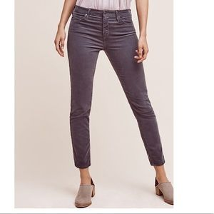 AG Adriano Goldschmied charcoal corduroy jeans